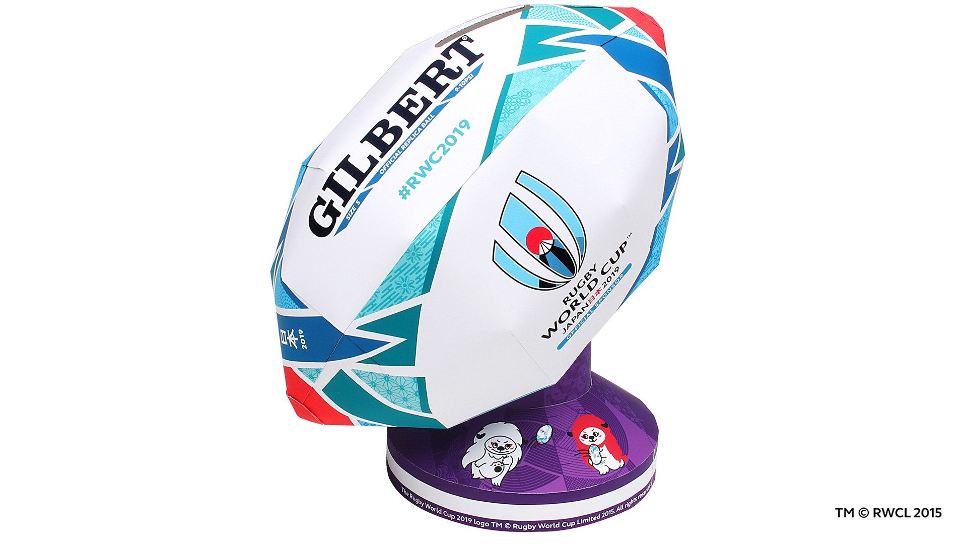 A Rugby Ball Money Box created with Canon's Creative Park.